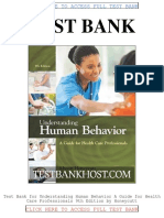 Test Bank Understanding Human Behavior a Guide for Health Care Professionals 9th Edition