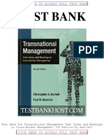 Test Bank Transnational Management Text Cases and Readings in Cross Border Management 7th Edition