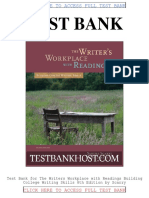 Test Bank the Writers Workplace With Readings Building College Writing Skills 8th Edition