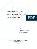 Irrationalism and Rationalism in Religion - R. L. Patterson