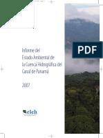 Informe Del Estado Ambiental de La Cuenca Hidrográfica Del Canal de Panamá - 2007