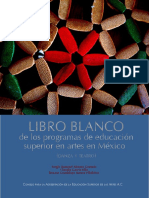 Libro blanco de los programas en educación superior en Mexico. Danza y Teatro. CAESA