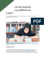 Cuáles Son Las Mejores Bibliotecas Públicas en Lima