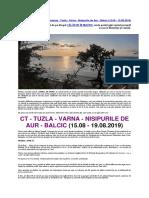 JURNAL de BORD - Vacanta La Marea Neagra - August 2019 - Incomplet