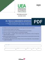 Ueam1801 - Vestibualr 2018 Acesso 2019 - Humanidades (Edit)