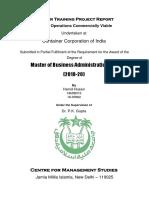 CONCOR Internship Report - Hamid Husain
