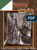 Enciclopedia de Las Razas Cambiantes - Tomo 3 - Corax, Gurahl, Kitsune, Mokole (Incompleto)