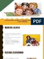Aula 4 - Literatura infantil brasileira, de Marisa Lajolo e Regina Zilberman.pptx