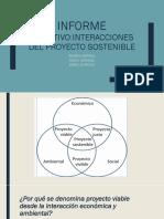 """INFORME EJECUTIVO_""""Interacciones Del Proyecto Sostenible"""""""