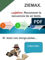 ZIEMAX Secuencia Aplicada a Texto
