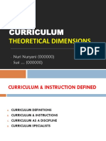 Curriculum- Theoretical dimensions