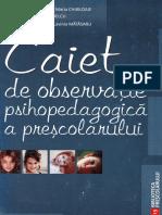 Caiet de Observatie Psihopedagogica a Prescolarului - Maria Matasaru