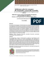 Valenzuela, L (2015) Reflexiones Sobre Los Conceptos Desarrollo Sustentable y Desarrollo Sostenible