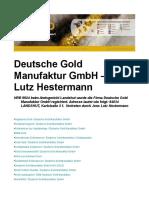 Deutsche Gold Manufaktur GmbH – Jens Lutz Hestermann