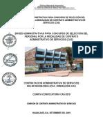 BASES PROCESO  CAS N°004-2019 DIRECCIÓN REGIONAL DE SALUD HUANCAVELICA