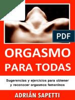 Orgasmo Para Todas Sugerencias y Ejercicios Nna