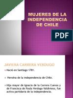 Mujeres de La Independencia de Chile