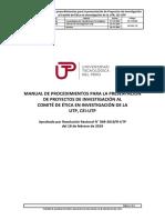 Inv - Ma001 Manual de Procedimientos Para Presentacion de Proyectos Al Cei-utp