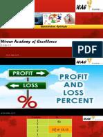Percentage ,Discount,Profit & Loss