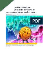 Bitcoin Superó Los USD 12