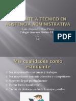 Aspirante a Técnico en Asistencia Administrativa