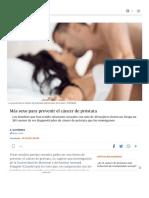 Más Sexo Para Prevenir El Cáncer de Próstata