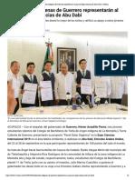 06-07-2019 Estudiantes indígenas de Guerrero representarán al país en Expo Ciencias de Abu Dabi.