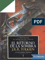 El retorno de la Sombra - J R R Tolkien.pdf