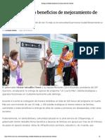 07-07-2019 Entrega Astudillo Beneficios de Mejoramiento de Vivienda.