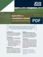 Agricultura y Variabilidad Climática