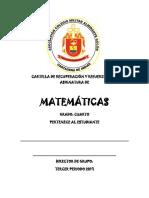 Cuarto Matemáticas