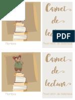 Carnet de Lectura Ratón de Biblioteca