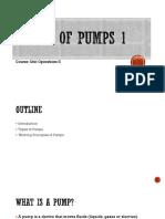 Basics of Pumps