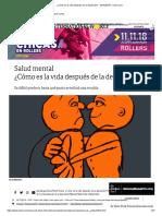 ¿Cómo Es La Vida Después de La Depresión_ - 29-10-2018 - Clarín.com