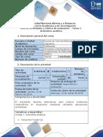 Guía de Actividades y Rúbrica de Evaluación - Tarea 1 - Aritmético Analítico (1)