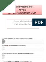 Guía de Vocabulario Mi Planta Naranja Lima-jmmg