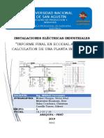 INSTALACIONES  ELECTRICAS INDUSTRAILES