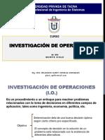 Investigación de Operaciones- Introducción-semana01