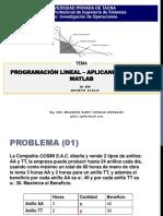 Programacion Lineal Solver Matlab Semana03