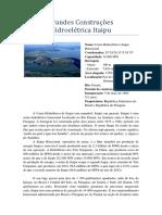 Grandes Construções - Hidroelétrica Itaipu.docx