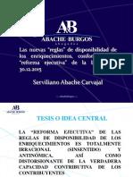 Serviliano Abache -Cámara de Caracas-AVDT-Art. 5 de La LISLR (2.2.2016)