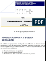 Forma Canonica Forma Estandar Semana04