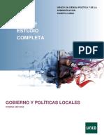 GOBIERNO Y POLITICAS LOCALES. 4º UNED
