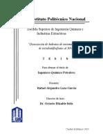 Disociación de Hidratos de metano en TBPB