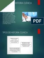 Exposicion n1 - Tipos de Historia Clinica