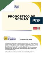 Pronostio de Ventas