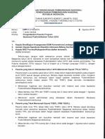 Surat Pengembalian Beasiswa Pusbindiklatren Bappenas 2019