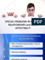 Special Problems in Marital Relationship