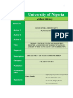 17637 the Influence of Online Journalism on Revenue Generation of Nigeria News Media a Study of the News Agency of Nigeria (Nan)
