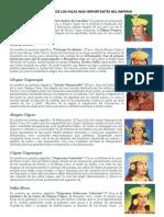 La Biografia de Los Incas Mas Importantes Del Imperio - Historia Del Imperio Incaico